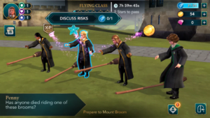 Harry Potter i tajemnica Hogwartu choose trening na miotle
