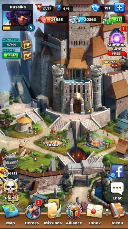 Empires and Puzzles Budynki