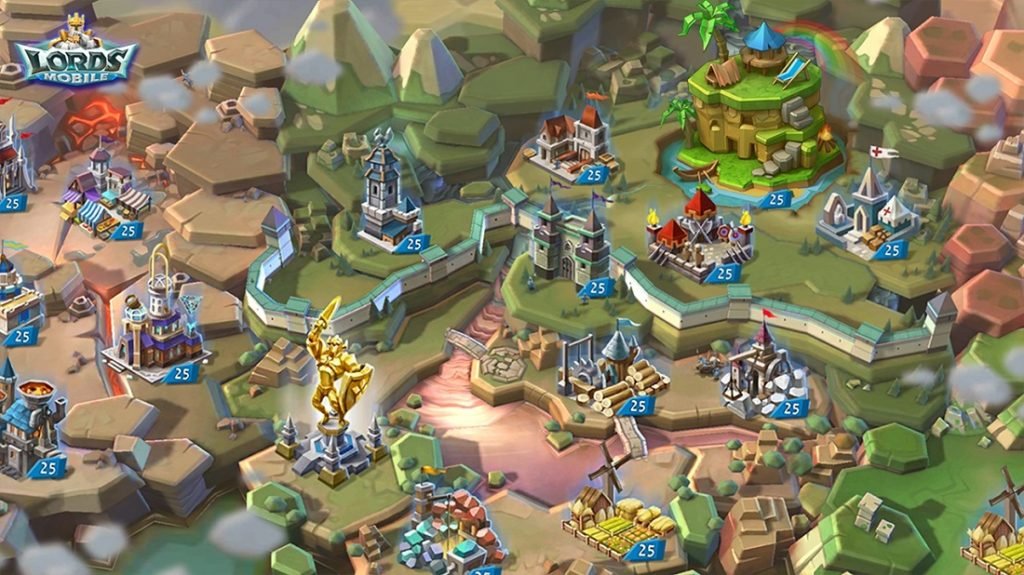 Lords Mobile - popularne gry strategiczne na androida